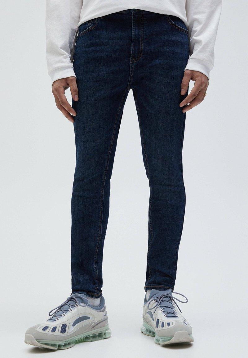 PULL&BEAR - Slim fit -farkut - dark blue