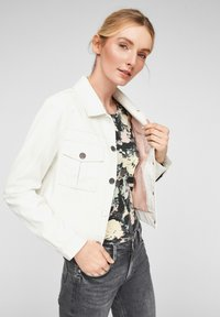 QS by s.Oliver - Faux leather jacket - cream - 3