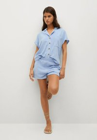 Mango - Overhemdblouse - hemelsblauw - 1