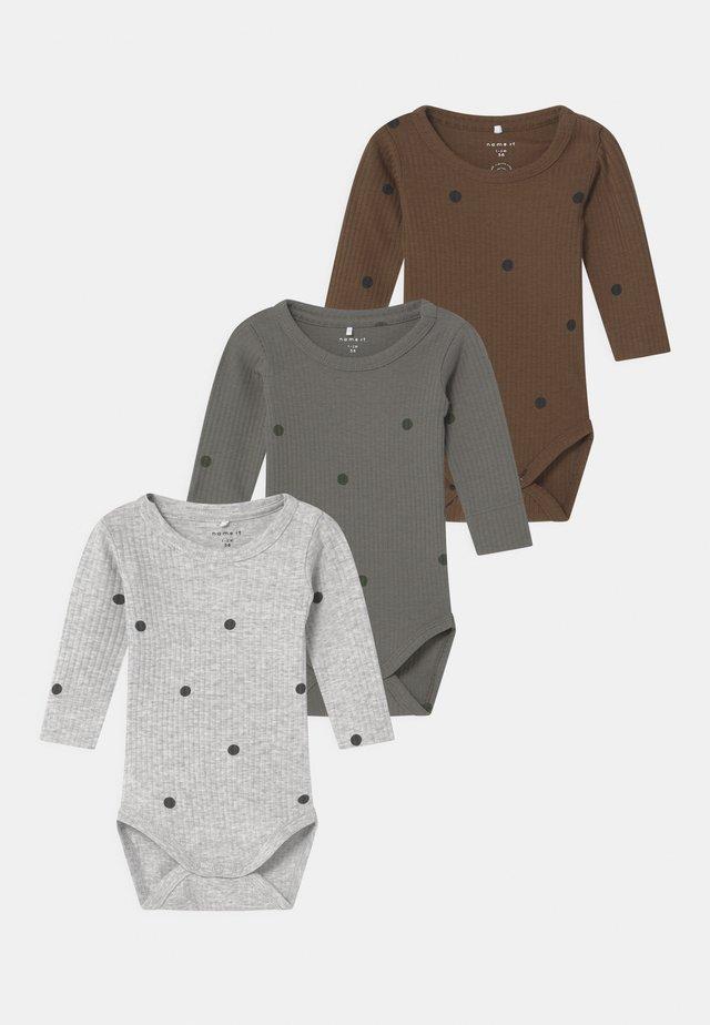 NBMDANIEN 3 PACK - Body / Bodystockings - castor gray/desert palm/grey