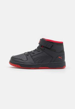 REBOUND LAYUP - Zapatillas altas - phantom black/urban red