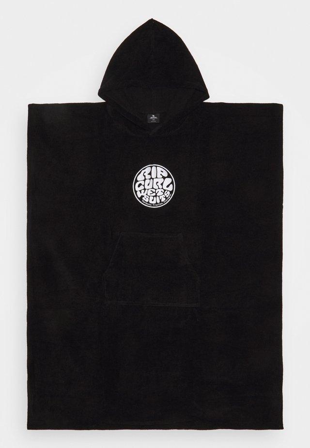 WET AS HOODED TOWEL - Beach towel - black