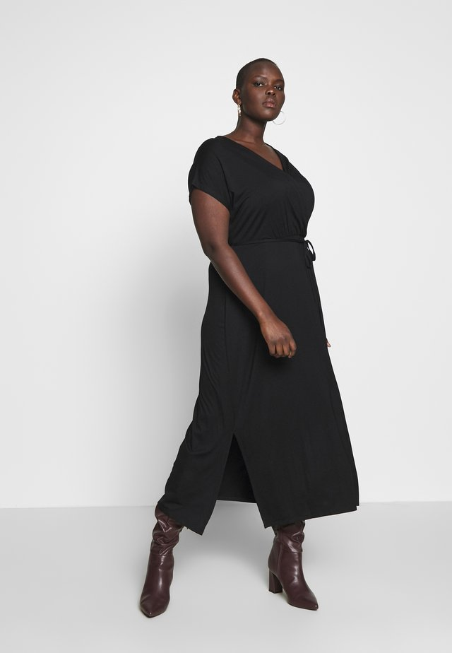 WRAP MAXI - Robe longue - black