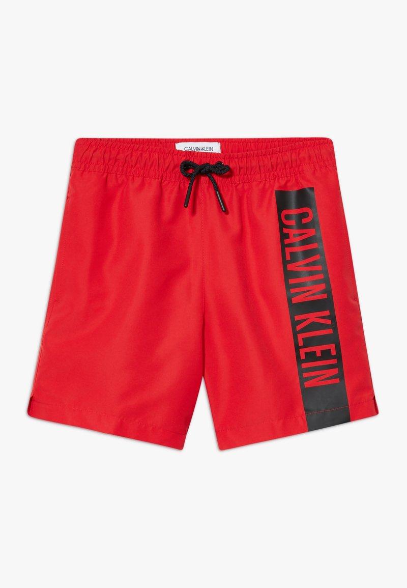 Calvin Klein Swimwear - MEDIUM DRAWSTRING INTENSE POWER - Badeshorts - red