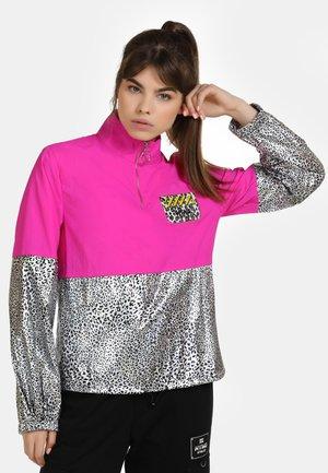 Summer jacket - pink silber leo