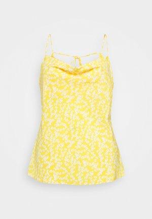 COWEL NECK PRINTED CAMI - Top - yellow