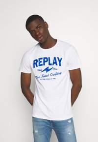 Replay - TEE - T-shirt con stampa - white - 0