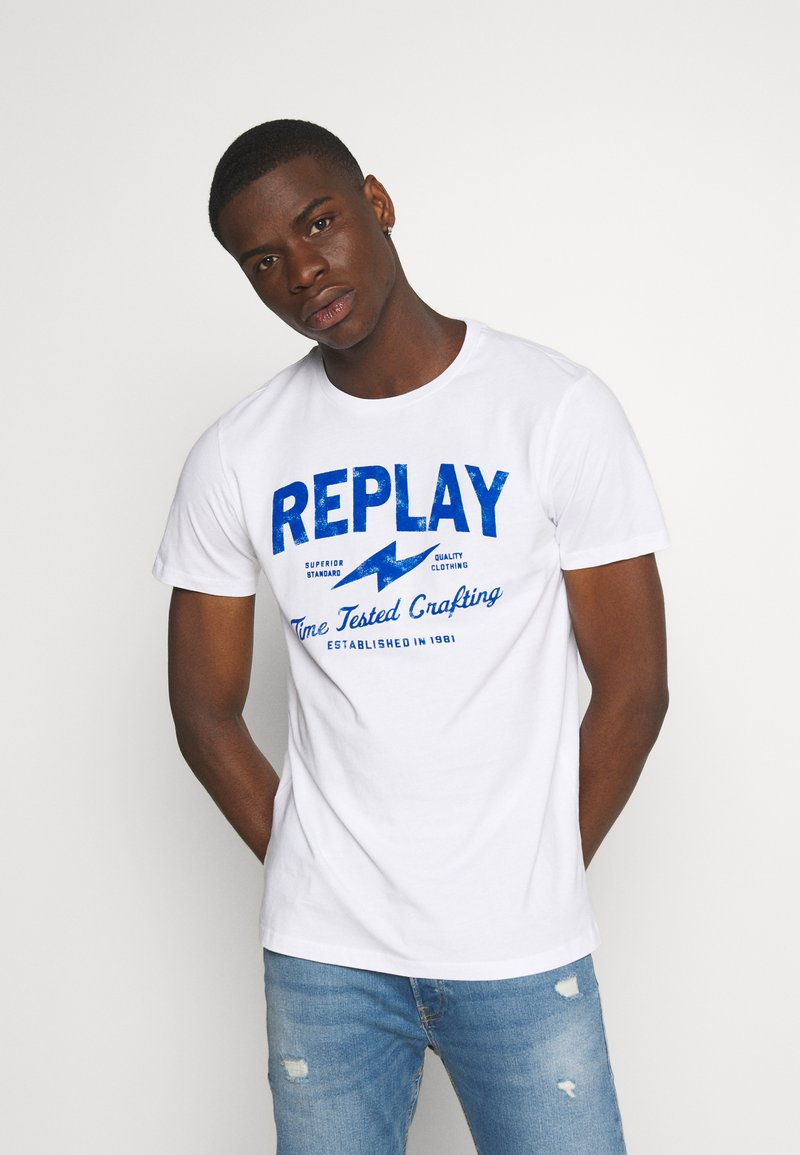 Replay - TEE - T-shirt con stampa - white