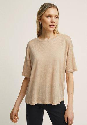ALVA LINEN - Basic T-shirt - ginger root