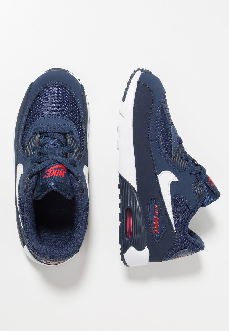 Nike Sportswear - AIR MAX 90 - Sneakers - midnight navy/white/universal red/obsidian