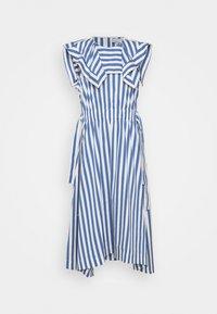 3.1 Phillip Lim - DRAPED HANDKERCHIEF COLLAR GATHERED WAIST DRESS - Day dress - blue/ivory - 5