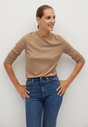 LUCAS - Strikpullover /Striktrøjer - medium brown