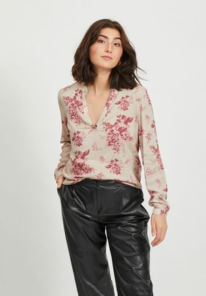 VICHANET V NECK - Blouse - humus