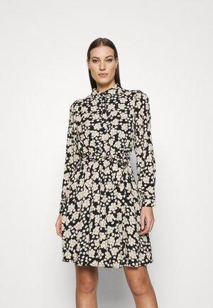 COUNTRY DRESS - Shirt dress - black/oatmeal