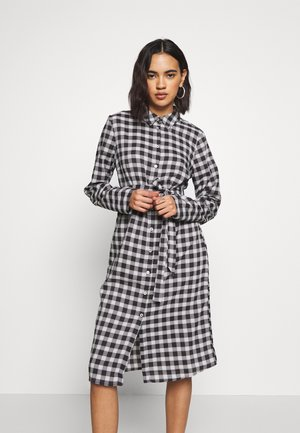 VIDOSSA DRESS - Shirt dress - black/cloud dancer