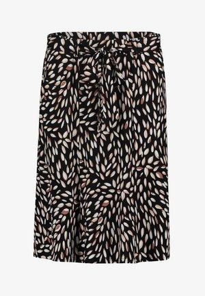 MIT MUSTER - A-line skirt - black/camel