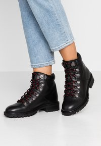 Simply Be - WIDE FIT LACE UP BOOT - Veterboots - black - 0