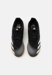 adidas Performance - PREDATOR 20.4 FOOTBALL SHOES INDOOR UNISEX - Botas de fútbol sin tacos - core black/footwear white - 3