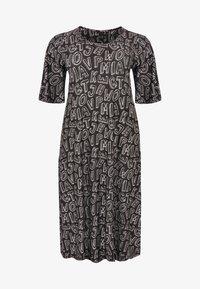 Yoek - MIT DRUCK - Day dress - black/white - 3