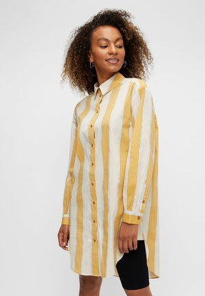 Button-down blouse - nugget gold