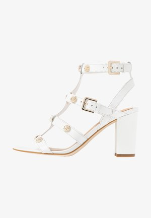 MAGALE - High heeled sandals - white