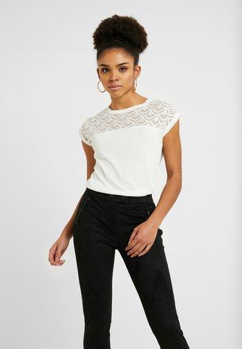 ONLNICOLE MIX 2 PACK - Print T-shirt - black/cloud dancer