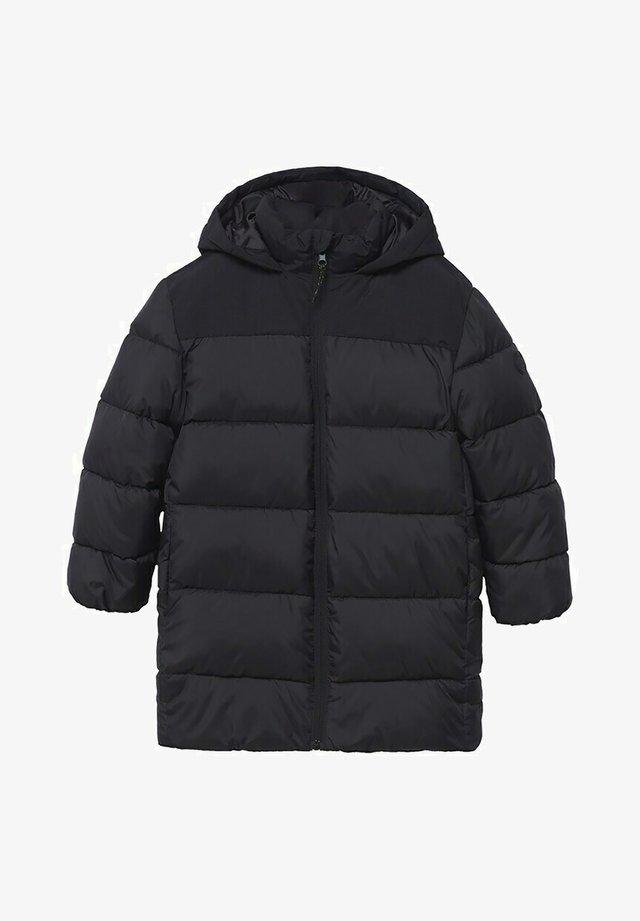MIT KAPUZE - Winterjas - schwarz