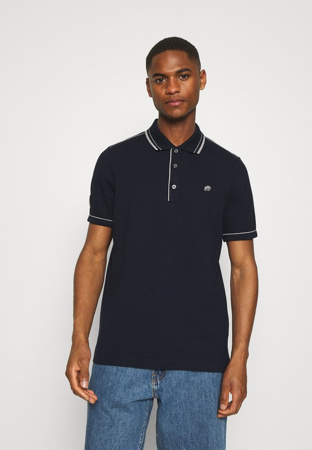 TIPPED - Polo - preppy navy