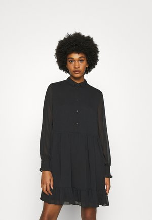 TIERED LINE DRESS - Skjortekjole - black