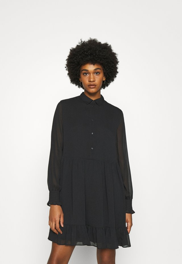 TIERED LINE DRESS - Abito a camicia - black