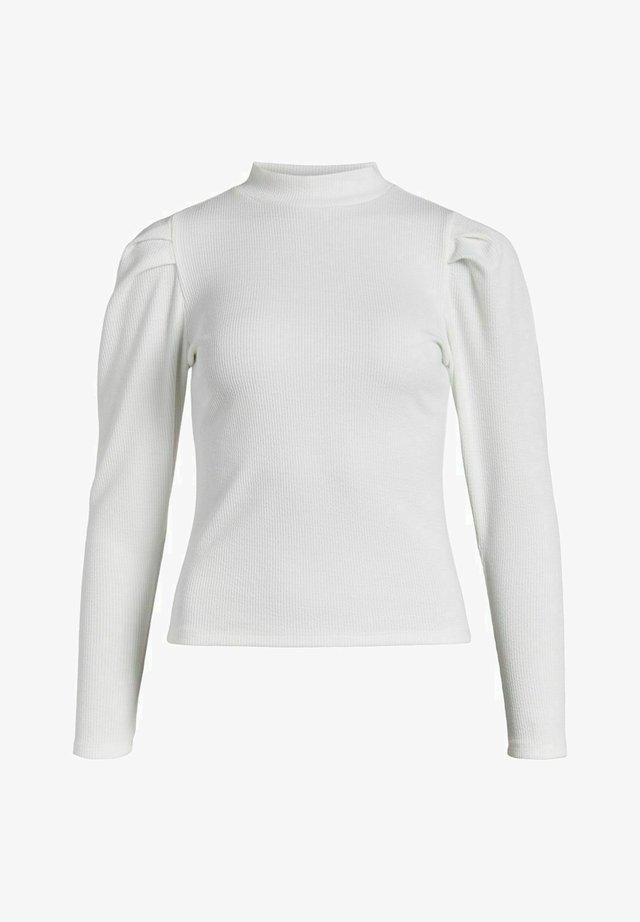MIT LANGEN ÄRMELN HOHER KRAGEN - Bluzka z długim rękawem - cloud dancer