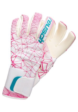 Gloves - white / magenta