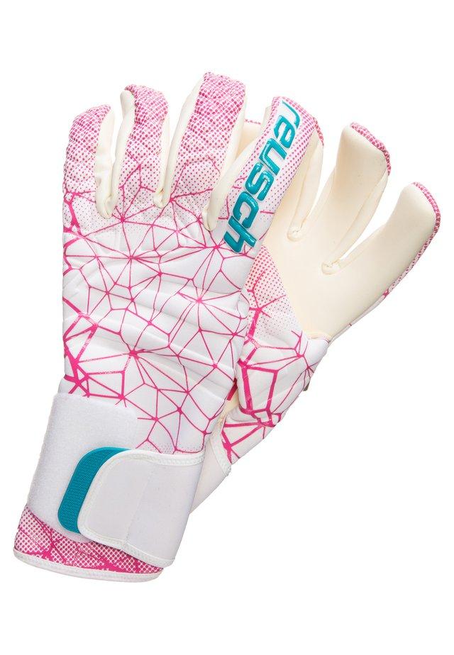Rękawiczki pięciopalcowe - white / magenta