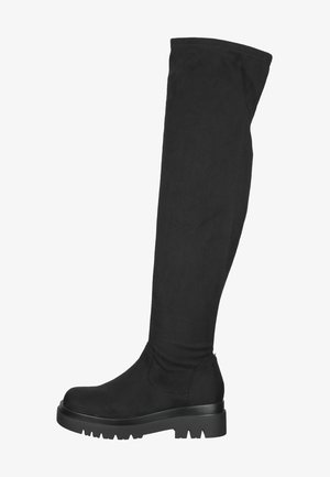 Over-the-knee boots - micro black