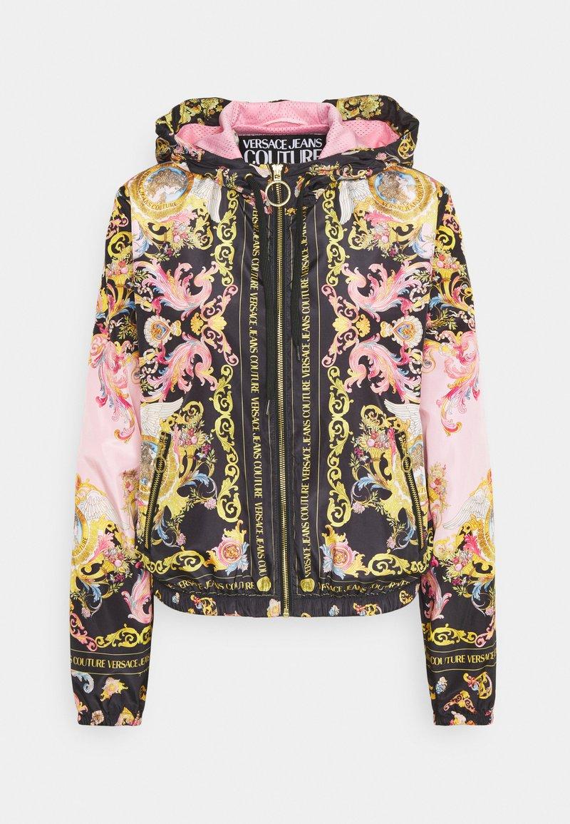 Versace Jeans Couture - LADY DUSTCOAT - Kurtka wiosenna - pink confetti/black