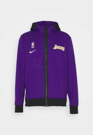 NBA LA LAKERS THERMAFLEX SHOWTIME FULL ZIP HOODIE - Klubové oblečení - field purple/black/white