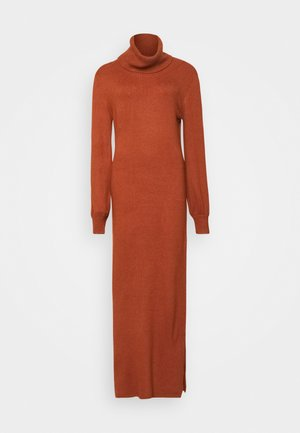 LADIES DRESS - Pletené šaty - rust