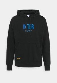 Nike Performance - INTER MAILAND HOODIE - Sweatshirt - black/blue spark/truly gold - 0
