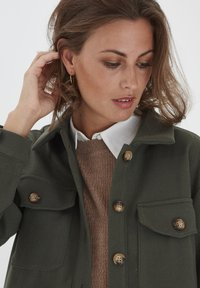 Fransa - FXTAHIR - Summer jacket - dark olive - 2