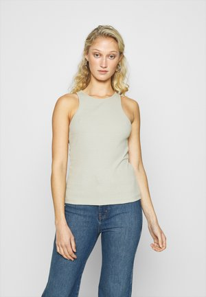 Botanical dyed top - Topper - olive