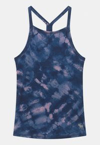 Abercrombie & Fitch - BACK DETAIL ACTIVE TANK - Toppe - blue - 0