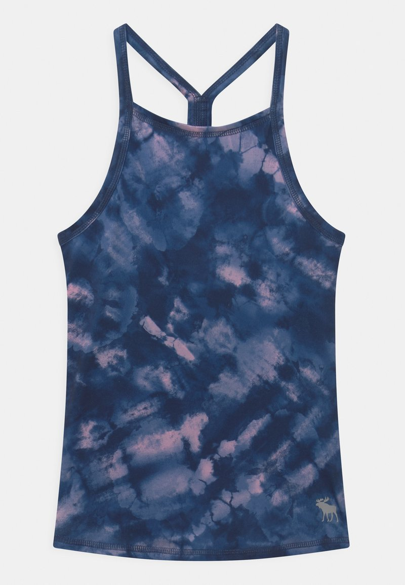Abercrombie & Fitch - BACK DETAIL ACTIVE TANK - Toppe - blue