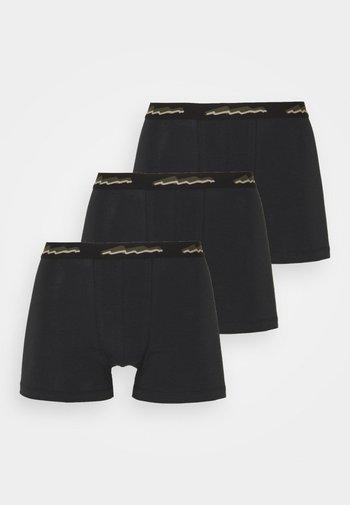3 PACK - Boxerky - black/khaki