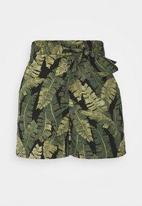 Object Petite - OBJFANA - Shorts - black/leaves - 0