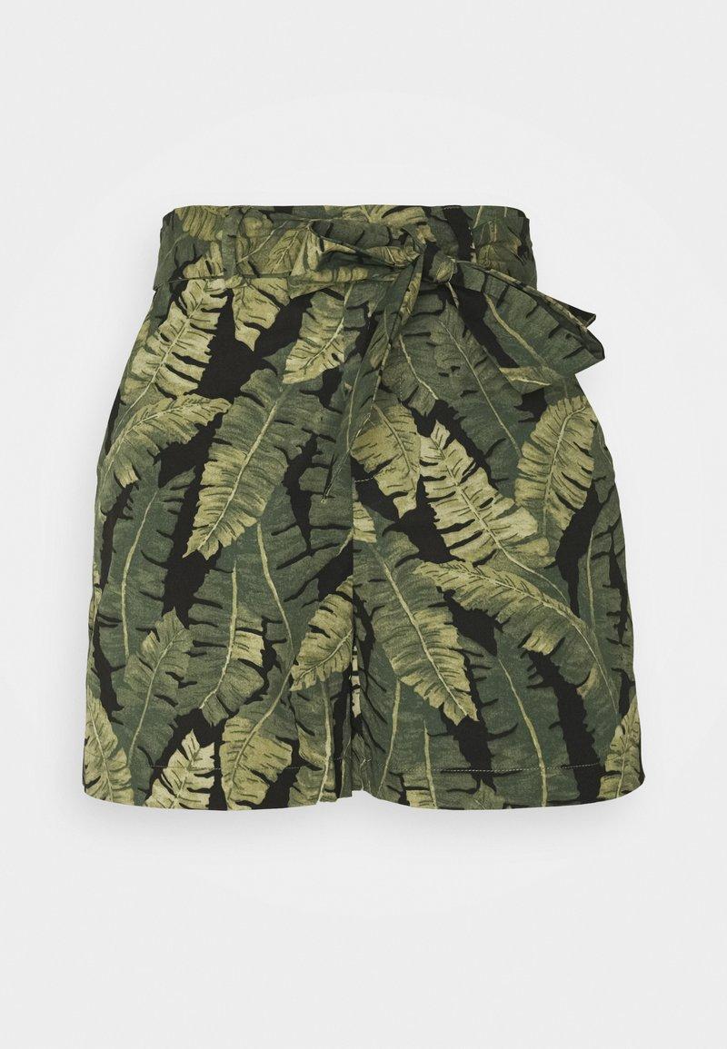 Object Petite - OBJFANA - Shorts - black/leaves