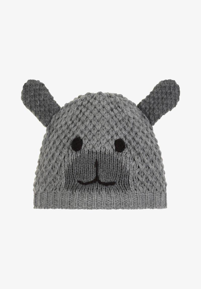 Eisbär - Mütze - grau-meliert