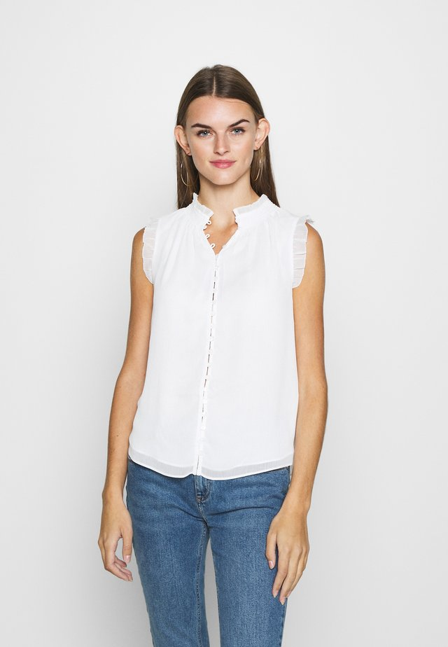 SHIRRING TANK - Blouse - porcelain