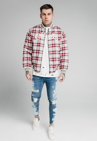 SIKSILK - CHECK - Giubbotto Bomber - grey/red - 1