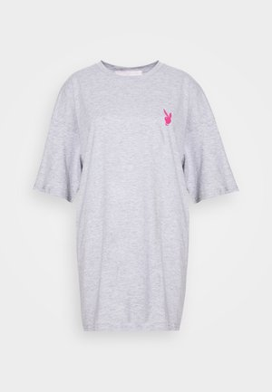 PLAYBOY MISSION STATEMENT OVERSIZED T SHIRT DRESS - Jersey dress - grey