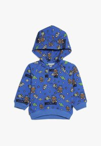 MOSCHINO - HOODED - Kapuzenpullover - bluette toy space - 0